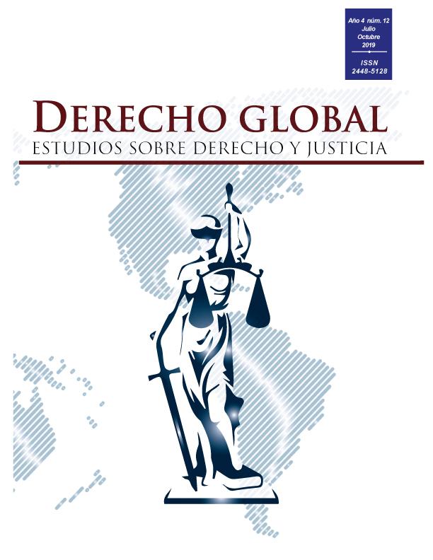 Portada revista Derecho Global, núm. 4
